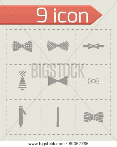 Vector bow ties icon set