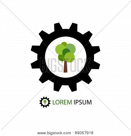 Colorful wood industry logo