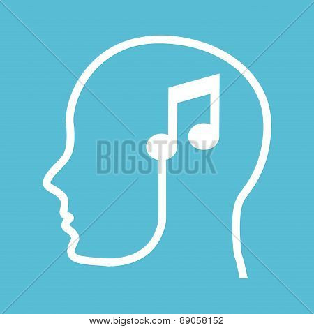 think design over blue background vector illustration