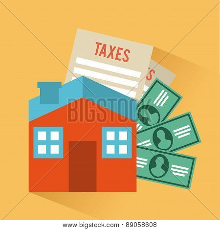 tax icon over cream  background vector illustration