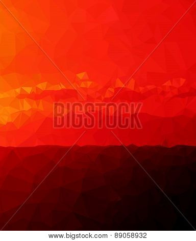 Background modern texture triangle geometry red sunrise birth experience
