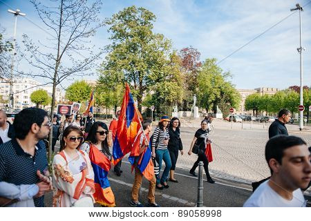 Armenian Genocide 100Th  Rememberance March In France