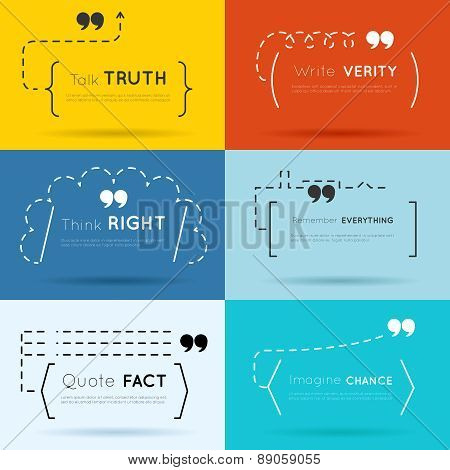 Vector quote backgrounds