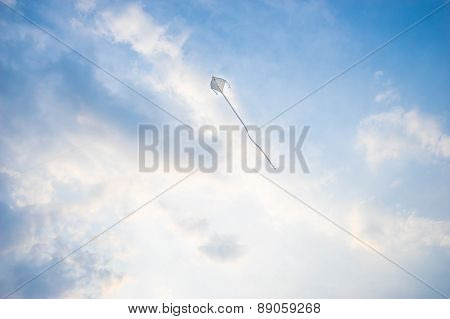 Kite Flying High In The Wind.