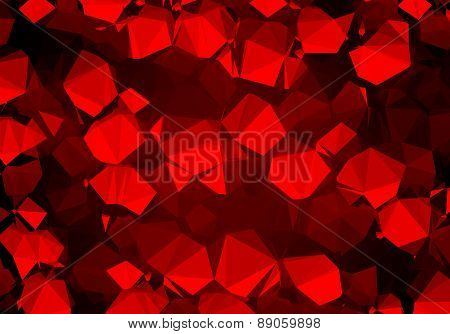 Background abstract triangle geometry pattern luxury ruby crystals