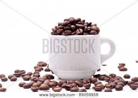 Coffee Seed and White Cup