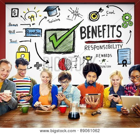 Benefits Responsibility Rewards Goal Skill Satisfaction Concept