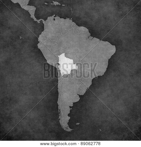 Map Of South America - Bolivia