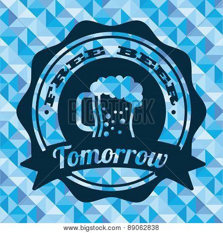 beer design over  blue  background vector illustration