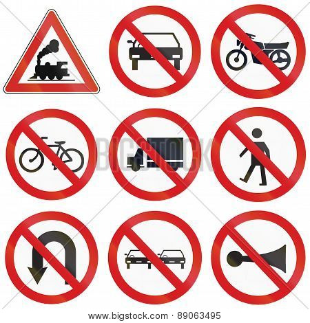 Prohibition Signs In Argentina