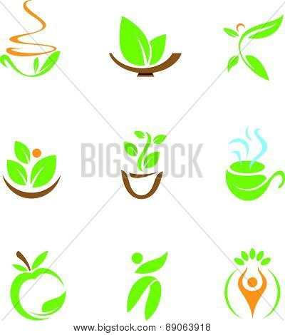 healthy food symbol and icon