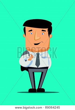 Wall street senior manager and capital investor looking casual vector illustration