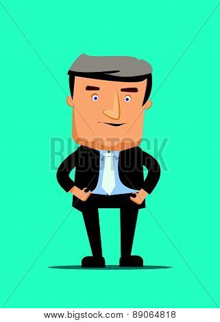 Talk show tv host snapshot isolated on blue screen vector illustration