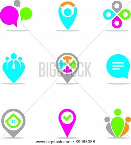 Locating Vector set for businessman and entrepreneurs