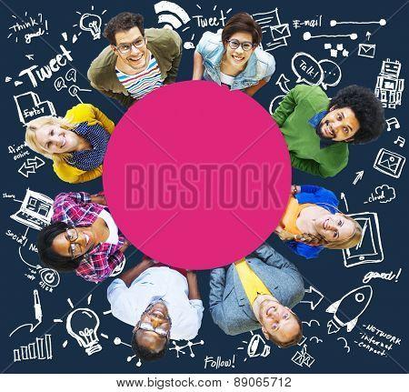 Network Technology Social Network Innovation Concept