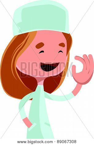 Medical doctor assistant vector illustration cartoon character