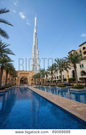 View of Burj Khalifa the tallest building in world