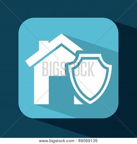 insurance design over  blue  background vector illustration
