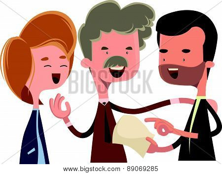 People debating and talking vector illustration cartoon character