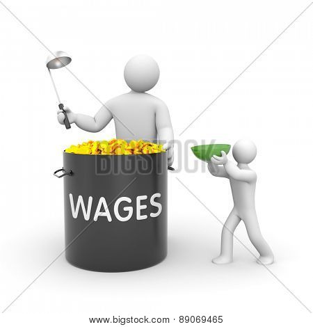 The distribution of wages