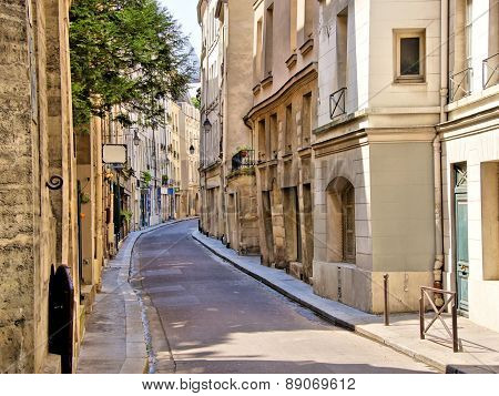 Street in the Latin Quarter of Paris, France