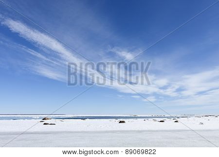 Shore of the Baltic Sea in March.