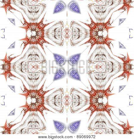 Seamless Kaleidoscope Texture Or Pattern On White Background 3