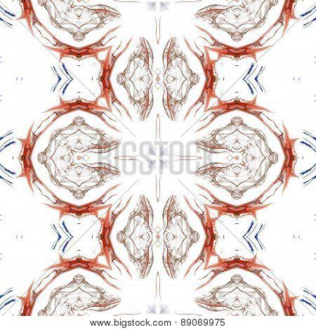 Seamless Kaleidoscope Texture Or Pattern On White Background 5