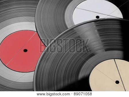 Three Vinyl records