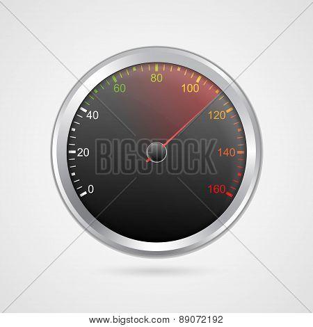 Vector Speedometer Design. Vector Illustration.