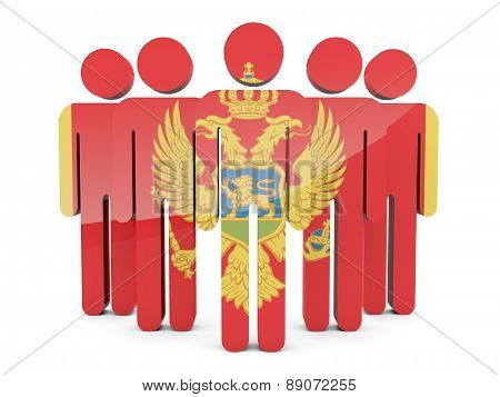 People With Flag Of Montenegro