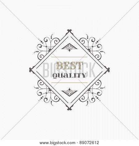 Vintage Frame - for Monogram or Calligraphic Design - in vector
