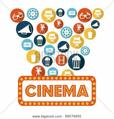 cinema design overwhite  background vector illustration