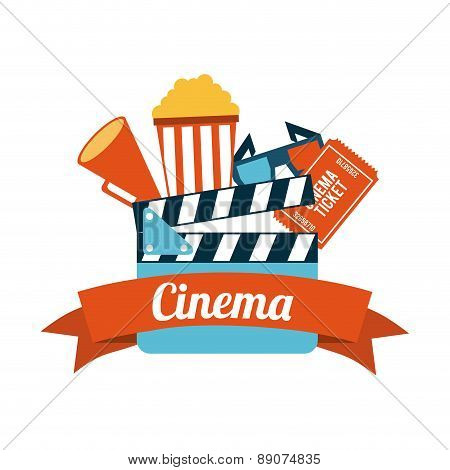 cinema design overwhite  background vector illustration