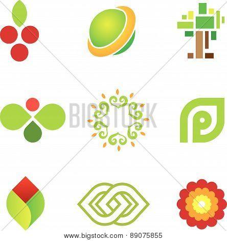 Sweet fruit of green nature safe world community logo icon