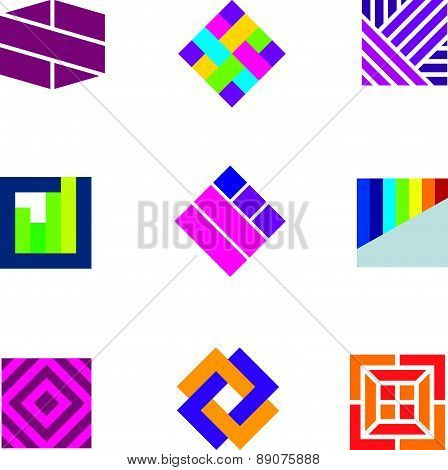 Abstract art logo template symbol be different decoration icon (2)