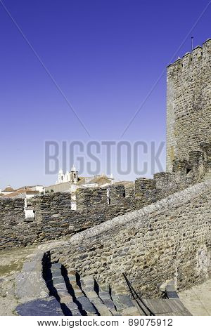 Alentejo Town Of Monsaraz Castle Inner Space. Portugal