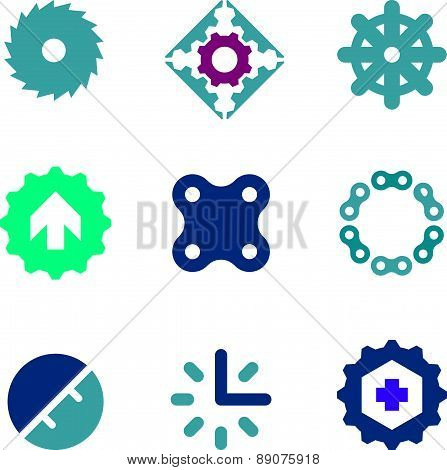 Solid steel chain of strength company business success icon logo