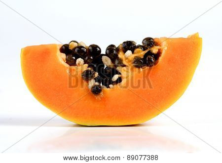 Papaya on white backgrouns - studio shot