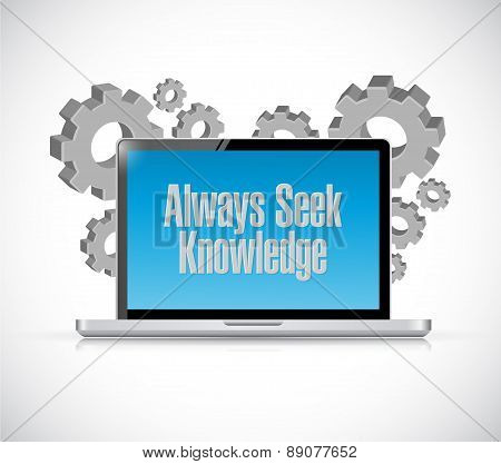 Always Seek Knowledge Technology Sign Concept
