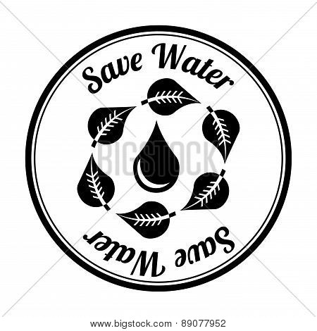 save water over white background vector illustration