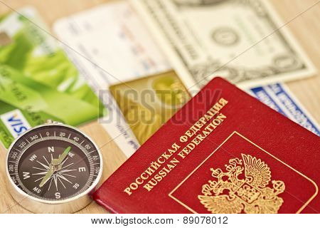 Fees Are On A Long Trip Required Items : Passport, Bank Card And Cash