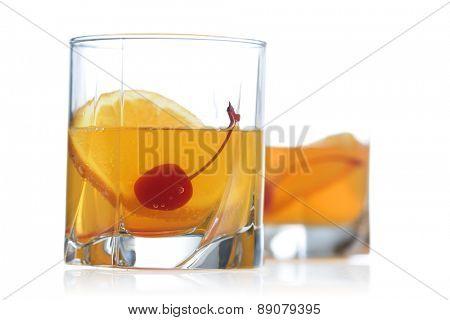 Studio shot of drinks on white background