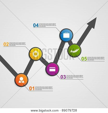 Abstract Infographic Chart. Vector Illustration.