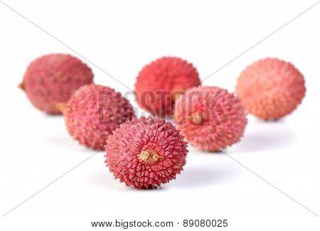 Studio shot of lichee fruit