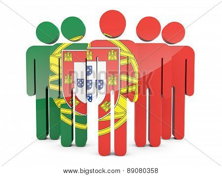 People With Flag Of Portugal