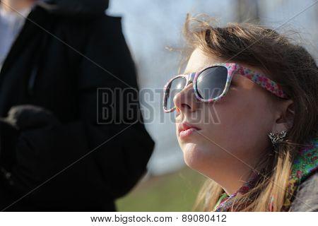 Teen Sunbathes