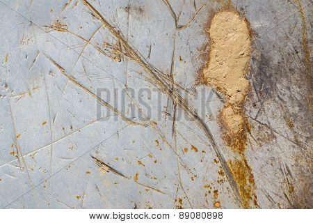 Abstract Texture Of The Scratched Iron