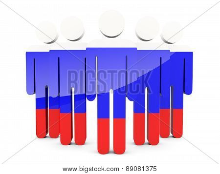 People With Flag Of Russia