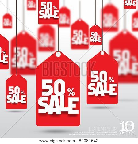 eps10 vector price tag 50 percent sale discount promo reduction business background